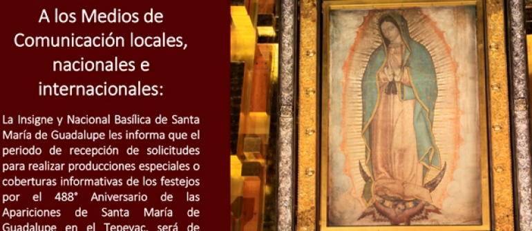 Comunicado Medios de Comunicación Festejos Guadalupanos 2019